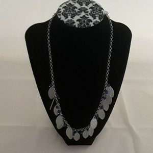 Lia Sophia Purple & silvertone necklace